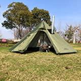 Utomhus tält Teepee tält vattentät fyra säsonger familj pyramid tält camping backpacking vandring bergsklättring uppvärmt sky