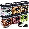 Chef's Path Set Boites de Rangement Hermétiques - 10 Étiquettes et Marqueurs – Rangement Cuisine et Garde-manger - Sans BPA –
