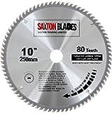 Saxton, hartmetallbestücktes Holzkreissägeblatt, 250x 30mm, 80 Zähne, für Bosch, Makita usw, passend für 255-mm-Sägen