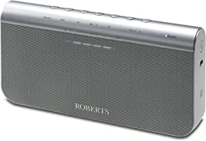 Roberts Radio BluPad Portable Bluetooth Speaker with Built-In Rechargeable Battery and Leather Carry Case