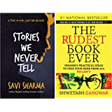 Stories We Never Tell + The Rudest Book Ever (Set of 2 Books)