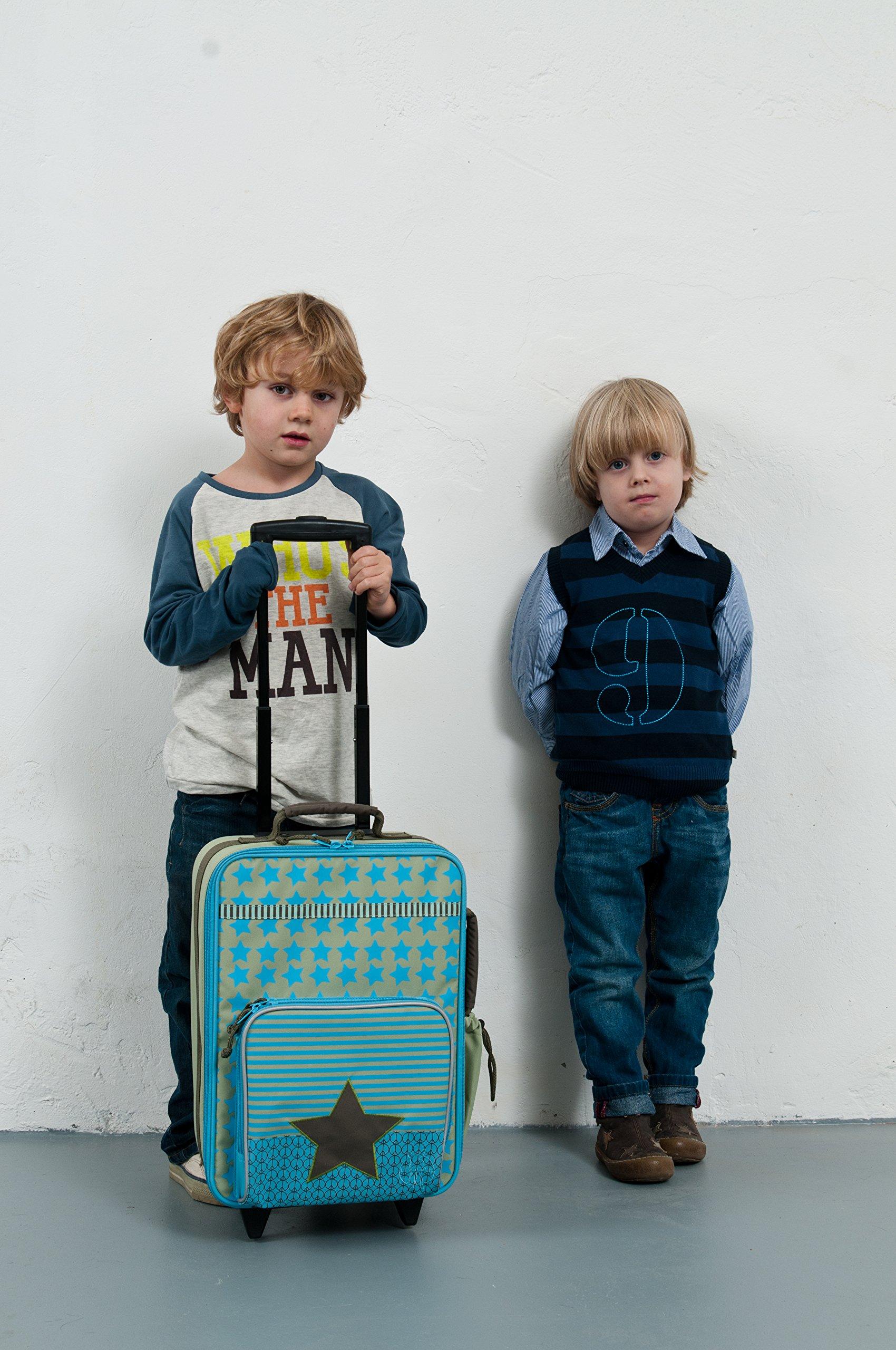LSSIG-Kinderkoffer-Trolley-Kindergepck-Reisekoffer-mit-Teleskopgriff-und-RollenKids-Trolley-starlight