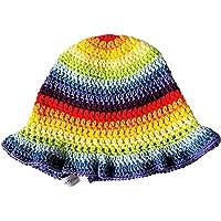 Cappellino arcobaleno, cappello estivo bimba, cappello bimba, cappello cotone, cappello uncinetto, colori arcobaleno