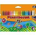 BIC Kids Ceras de Colores para Niños, Óptimo para material escolar,Plastidecor, Colores Vivos Surtidos, Material Escolar, 24