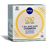 NIVEA Q10 Plus Anti-Age 3in1 Skin Care Cushion, 1 x 15 ml, Crema Colorata Anti-Età con Fattore di Protezione Solare 15, Crema
