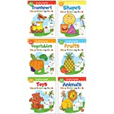 Colouring Books Super Boxset: Pack of 6 Crayon Copy Colour Books for Kids: Creative Crayons Series - A Pack Of 6 Crayon Copy