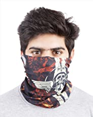 Noise NOIHWP131 13-in-1 West Coast Choppers Polyester Bandana, Free Size (Black/White/Orange)