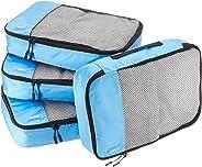 AmazonBasics Mittelgroße Kleidertaschen, 4 Stück, Himmelblau