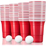 TRESKO® rode partybekers 50 stuks | beer pong party cups | 473 ml (16 oz) | bierpong bekers extra sterk | plastic bekers kuns