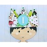 Corona de cumpleaños dinosaurios decoración de cumpleaños bebé regalo primer cumpleaños