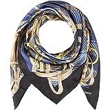 CODELLO - Grande asciugamano di seta da donna con elegante motivo foulard