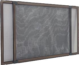 Insektenschutzrahmen Schiebfix/Fliegengitter/für Fenster, Balkontür, Terrassentür mit Rollladenführung, 75 x 50 cm (ausziehbar bis 142 cm)