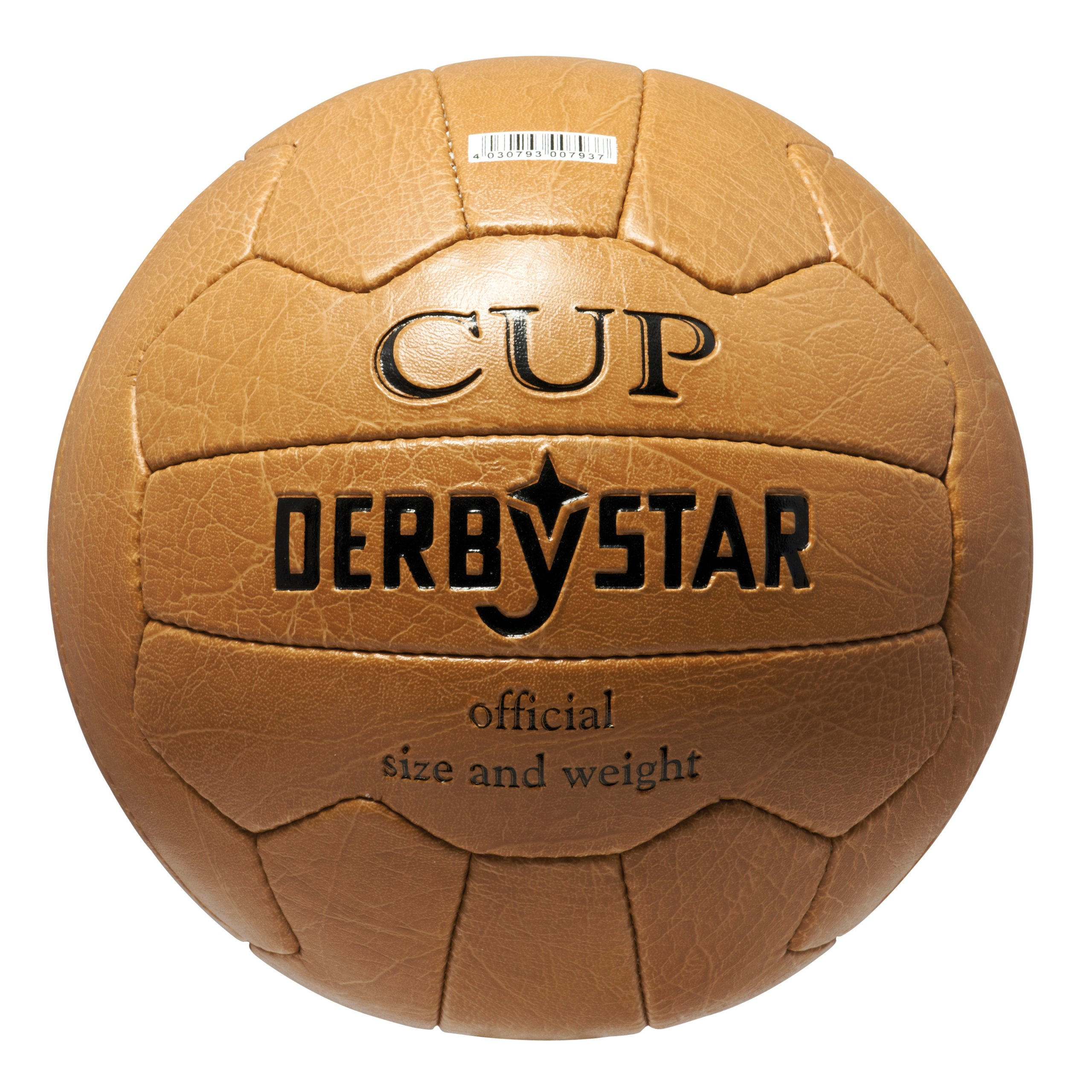 DERBYSTAR, Pallone da calcio, Marrone (braun), Misura 5