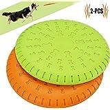 Legendog Scheibe Hund, 2 Stück Soft Rubber Disc, Hunde Scheiben, Langlebiges Training Hundespielzeug, Interaktive Outdoor-Spielzeug für Große Hunde