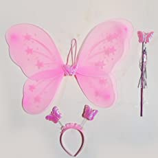 Timestar Fairy Butterfly Wings Costume for Baby Girl, Pink