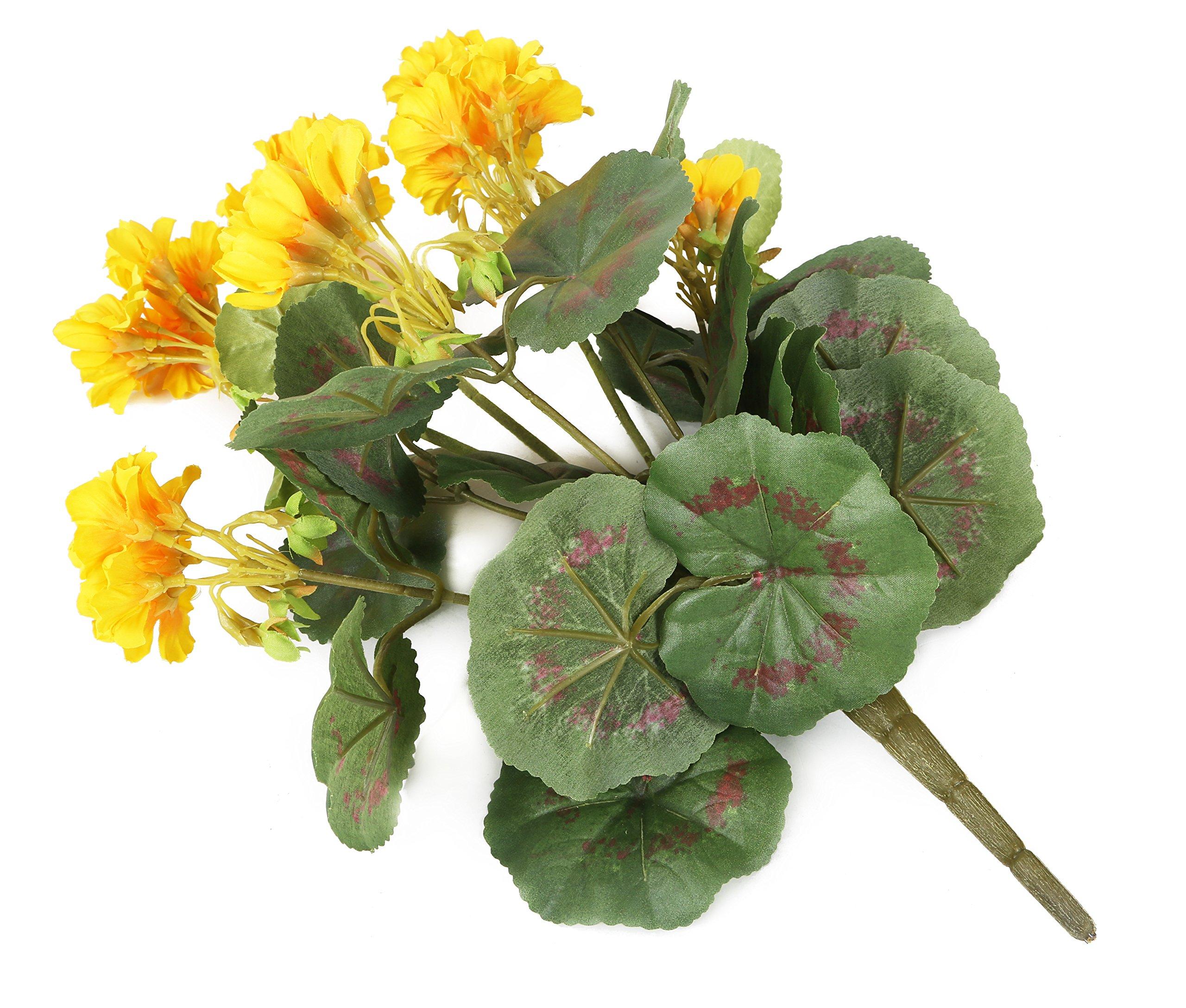 Closer To Nature HBC007YE – Geranio Zonal artificial, 38 cm, color amarillo