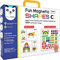 Fun Magnetic Shapes (Junior) : Type 2 with 58 Magnetic Shapes, 164 Pattern Book, Magnetic Board and Display Stand