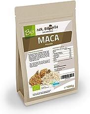 Mister Brown BIO Maca Pulver aus Peru 1 kg | Premium Qualität | 1000 g | abgefüllt in Deutschland | aus kontrolliert biologischem Anbau | Ohne Zusatzstoffe - Ohne Konservierungsmittel