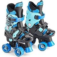 Patins à roulettes garçon quad Osprey, Rollers quad réglables, Rouge ou Bleu