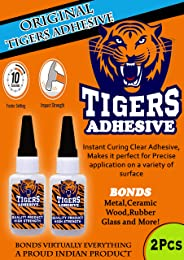 WOODCRAFT Tigers Instant Adhesive Ideal for Wood,Ceramic,Rubber,Glass 20mlx2pcs