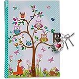 Lucy Locket - Journal Intime Forêt Enchantée pour Enfants (Avec Cadenas et Clés) Journal Intime Enfant avec Motifs Chouette e