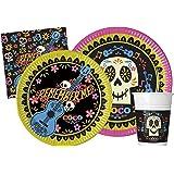 Ciao-Y4629 Coco Kit Mesa Fiesta, multicolor, 24 personas (Y4629)