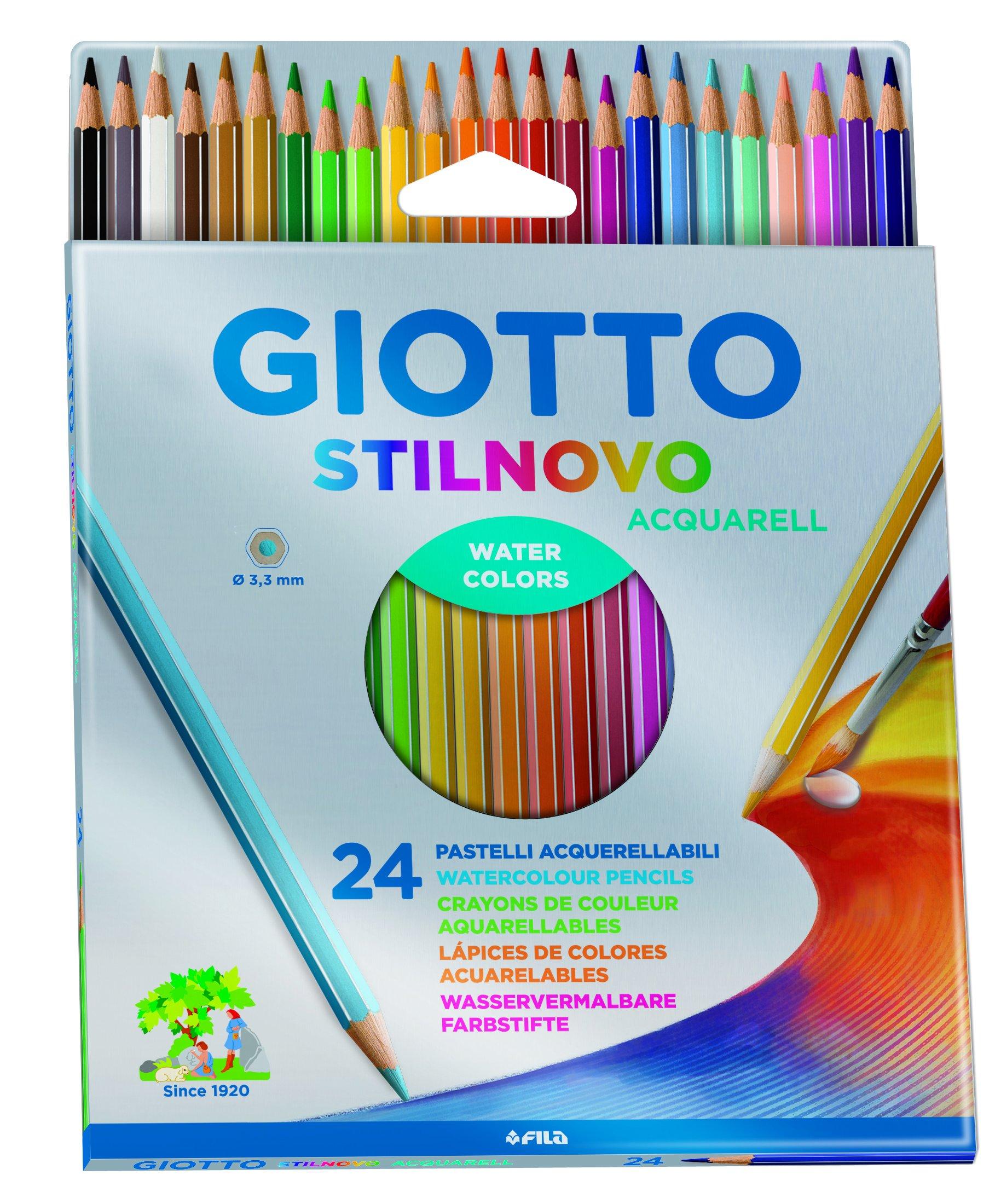 Giotto 255800 Pastelli Acquerellabili Stilnovo, 3.3 mm, Confezione da 24 1 spesavip