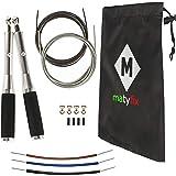 matyfix Kit Professionale Corda per Saltare Doppia Fornitura Attrezzature Sport per Fitness Uomo Donna Casa Palestra Jump Rop