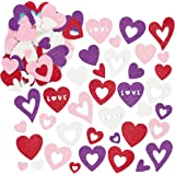 Baker Ross ET681 Heart Glitter Foam Stickers (Pack of 120), Perfect for Children to Decorate and Personalise Arts and Crafts