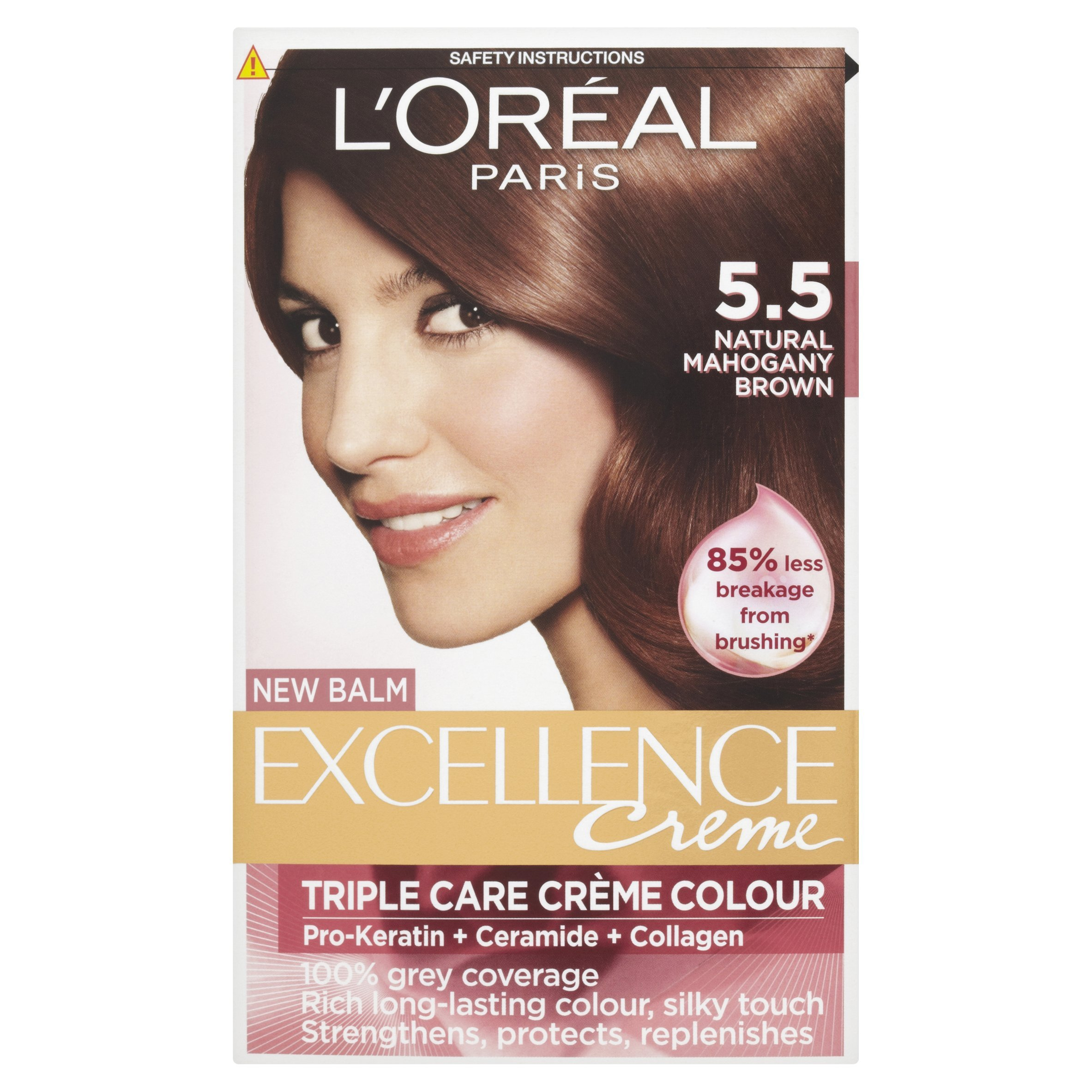 Loreal Excellence Permanent Hair Colour 55 Mahogany Brown