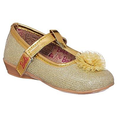 3f0213f631 Barbie Kids Girls Golden Color Ballerina(Size -5)