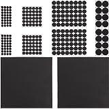 Relaxdays, Zwarte meubelstopper 250 stuks, antislip, stickers, op maat te knippen, ronde EVA-pads, verschillende maten