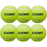 Amazon Brand - Solimo Rubber Tennis Cricket Ball, Set of 6