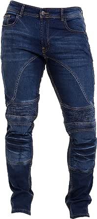 Qaswa Men's Motorcycle Denim Pants Motorbike Jeans with Stretch Panel Aramid Protection Lining Biker Trousers