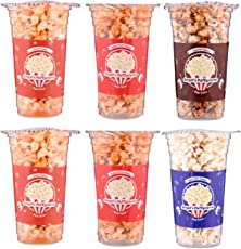 Angels Puffycorns Flavoured Ready to Eat Pop Corns - Mix Flavour - Pack of 6 Units (2 Cheese, 2 Tangy Tomato, 1 Butter Salted & 1 Caramel)