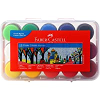 Faber-Castell Poster Color Plastic Box - Pack of 15 (Assorted)