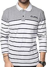 Zeyo Men's Cotton Striped T-Shirt