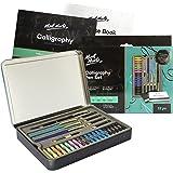 Mont Marte Kalligrafieset – 32-delig – Perfect voor beginners – Bevat: 4x Kalligrafie Vulpennen, 5x Kalligrafiepennen en nog