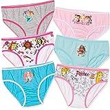 6 PACK of Disney Frozen 2, Disney Princess Original Girl's Character Underwear briefs knickers 100% Cotton - 2-8 Years
