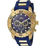 ساعة انفيكتا للرجال برو دايفر ستانلس ستيل كوارتز مع حزام بولي يوريثان، ازرق، 25 موديل 20280