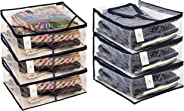 Homestrap Heavy Transparent Shirt And Saree Cover Combo - Pack Of 6