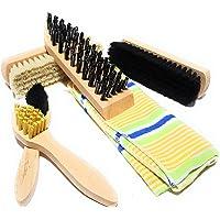 Bambelaa!!, set di 6 spazzole per la pulizia delle scarpe, con custodia