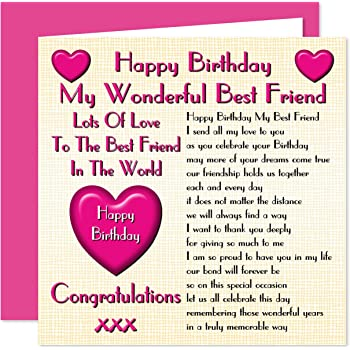 Best Friend Happy Birthday Card Lots Of Love To The Best Friend In