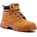 Black Hammer Mens Leather Safety Boots Steel Toe Cap Work Shoes S3 SRC Ankle Leather Brown Tan 5007