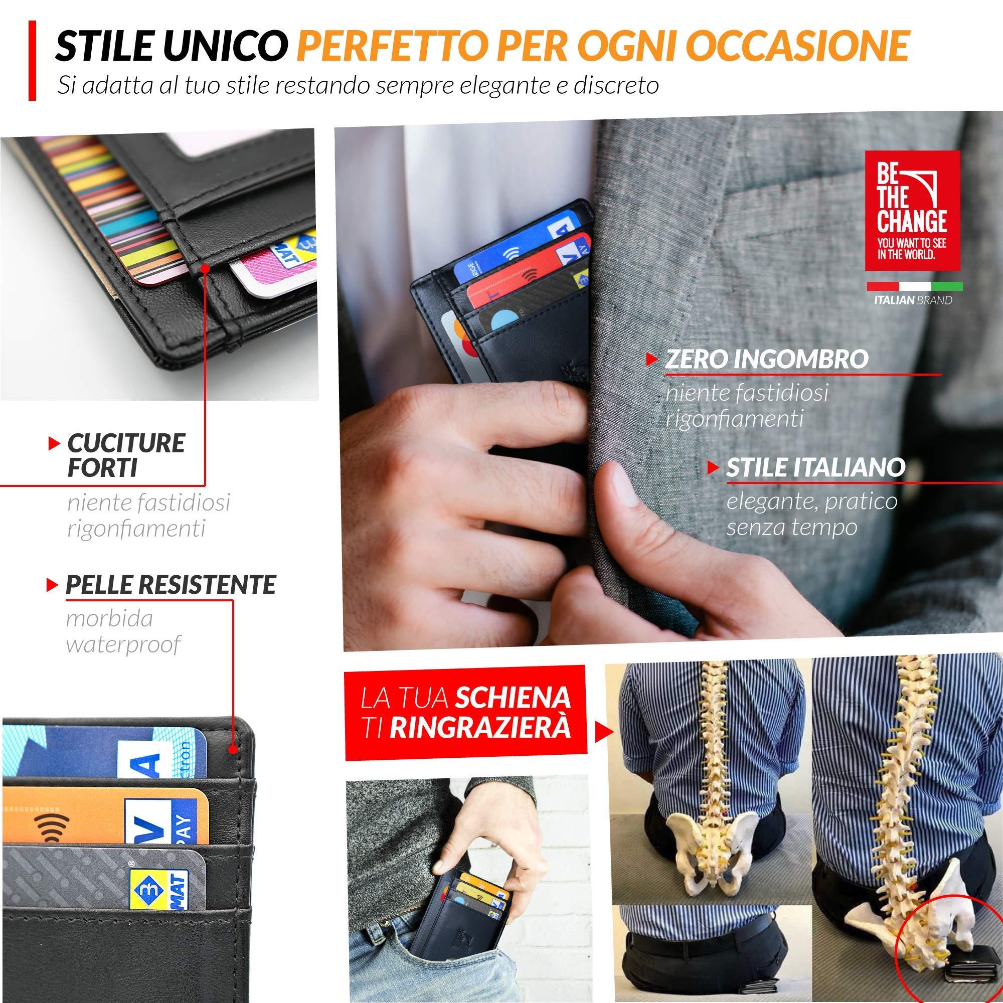 1ea27157d0 Portafoglio Uomo Piccolo Sottile - Mini Porta Carte Credito Uomo ...