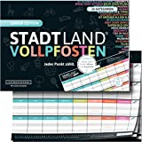 DENKRIESEN Stadt Land - Postes completos para niños y jóvenes (Bloque de Juego en Formato DIN A4)