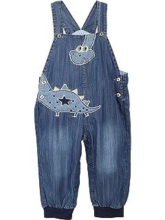 Camilife beb/é Bambino Bambina Jeans Salopette in Morbido Cotone Denim Pantaloncini Pagliaccetto per Primavera Estate Motivo a Balena Taglia 56//62//68//74//80//86//92
