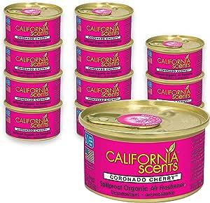 California Scents Car Scents Autoduft Lufterfrischer Duftdosen Air Freshener Coronado Cherry 42g 12 Stück Auto