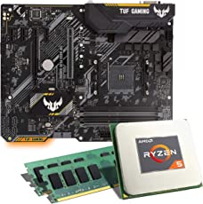 AMD Ryzen 5 2600 / ASUS TUF B450-PLUS Gaming Mainboard Bundle / 16GB | CSL PC Aufrüstkit | AMD Ryzen 5 2600 6X 3400 MHz, 16GB DDR4-RAM, GigLAN, 7.1 Sound, USB 3.1 | Aufrüstset | PC Tuning Kit