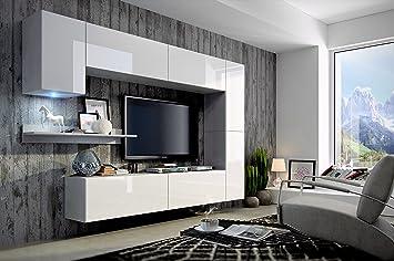 Moderne wohnwand  FUTURE 6 Moderne Wohnwand, Exklusive Mediamöbel, TV-Schrank, Neue ...